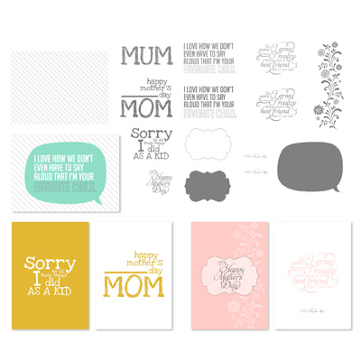For Mom Greeting Card Template MDS 4813
